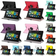 "For Amazon Kindle Fire HD 7"" 2013 Leather 360 Degree Rotating Swivel Case Stand"