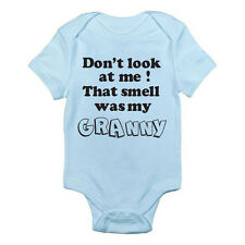 DON'T LOOK AT ME THAT SMELL WAS MY GRANNY - Novelty / Fun Themed Baby Grow/Suit