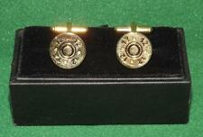 24k Plated Cufflinks of miniture cartridge heads for shooting, hunting,