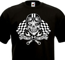 Tee Shirt ADDICTED TO SPEED Custom Cafe Racer Norton BSA Triumph Harley Biker
