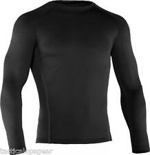 New Under Armour Men's ColdGear Base 2.0 Fitted Thermal Crew Shirt Black 1239724