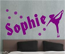 "Vinyl wall art ""Name Ice Skater"" Decals, stickers, wall art."
