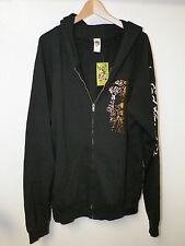MEN'S ED HARDY CHRISTIAN AUDIGIER ZIP FRONT BLACK HOODIE NWT SIZE XL & M