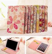 Flower PU Leather Smart Case Card Holder Stand Cover For iPad Mini with Retina