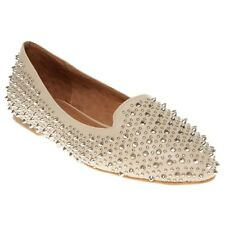 New Womens Jeffrey Campbell Natural Martini Synthetic Shoes Flats Slip On