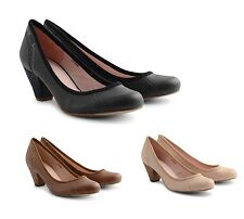 New Esprit Women's Sleek Court Shoes Black Brown Cream Beige Ladies Pumps Schuh