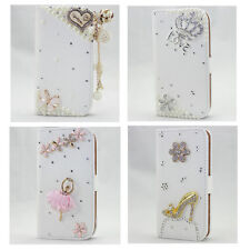 1x HOT 3D bling leather wallet card flip diamond case cover samsung galaxy Apple