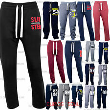 NEW MENS TRACKSUIT JOGGING TROUSERS BOTTOMS SWEATPANTS SLIMFIT MMA BOXING LOOSE