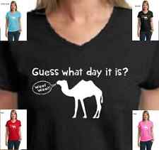 Funny Hump Day Camel TV Commercial Guess What Day it is Womens T-Shirt