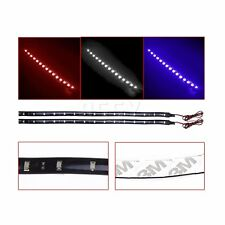 2X Brand New 30CM 15 SMD Car LED Flexible Strip Light Waterproof RED/BLUE/WHITE