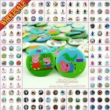 18Pcs Tin Button pin badges,30mm,Clothes Decoration kids Collection Party Gifts