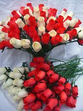 VALENTINES DAY GIFT SET WHOLESALE STOCK CLEARANCE SALE CREAM & RED WOODEN ROSES