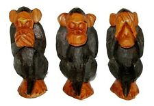 My Pet Wise Monkey Wooden Carving - You Choose Design from Three Wise Monkeys