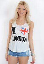 Cool Summer Autumn Printed Vest One Size i love london print Cami Tank Crop Boy