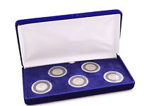 VELVET BOX FOR COINS IN AIRTITE CAPSULES HOLDERS PENNY DIME NICKEL QUARTER, 5 A
