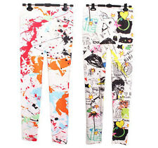 Colorful Print Lady Jeggings Women Skinny Leggings Stretchy Sexy Pants