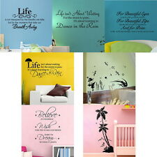 7 Patterns Quote Motto DIY Wall Sticker Decals Home Decor Removable Transfer
