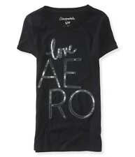 AEROPOSTALE womens Aero Sequin Love Graphic T Shirt Tee Top XS,S,M,L,XL,2XL NEW