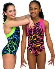 NEW!! Pink or Green Confetti Gymnastics Leotard by Snowflake Designs