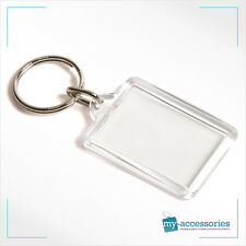 Blank Keyring Keychain Insert Personalise for Business - Plastic 35x24mm (Y1)