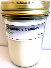 Desmond's Candles Homemade Scented Algeria (Egyptian Baby Powder) Soy Jar Candle