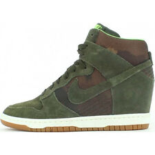 New Nike Dunks Sky Hi Print Womens High Heel Sneakers Shoes All Size Cargo Khaki