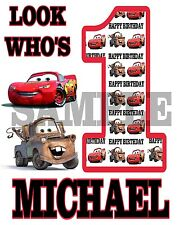 Personalized Disney Cars Birthday T Shirt Any Name Any Age