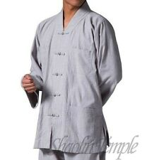 good shaolin meditation clothing kung fu buddhist uniforms Martial arts gray