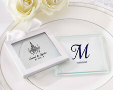 Personalized Glass Coasters Birthday Baby Baptism Holiday Bridal Wedding Favors