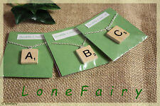 Handcrafted Scrabble Tile Necklace in Packet **Choose your Letter**