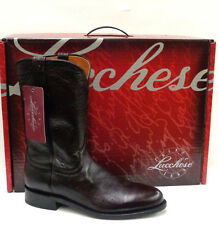 Lucchese Handcrafted 1883 Lonestar Calf Roper Boots M1011 Black Cherry