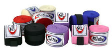 Fairtex Elastic Cotton Handwraps HW2 Full Length Hand Wraps Black Red Blue Pink