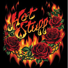 Hot Stuff Fire Roses Tattoo T-Shirt PLUS SIZE -or- SUPERSIZE T728F Rhinestone