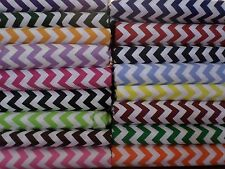 "Chevron 1/2"" Fat Quarter FQ 18x22 UPICK red blue pink black purple cotton new n"