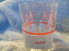 HOUSTON OILERS NFL 1970's BAR GLASS VERY RARE LARGE VERSION SEARS JC PENNEY