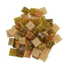1cm x 1cm vitreous glass tiles for mosaics, art and craft - mix of earth tones