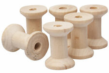 Wooden Bobbin Spool Sewing Craft Thread Ribbon Holder Sizes 2.5 3 4 cm Vintage