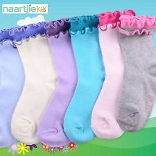 Naartjie Girls Double Ruffle Cotton Short Crew Socks 6 Pairs Pack NWT