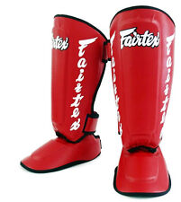 Fairtex Twister Shin Guards SP7 Muay Thai Boxing MMA Detachable In Step Shin Pad