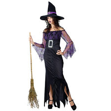 Adult Mystical Witch Halloween Fancy Dress Costume Lady Outfit New Ladies Hat