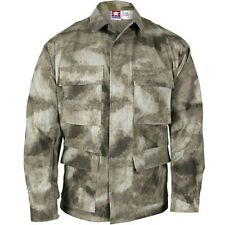 New! Propper A-TACS AU BDU Coat Battle Rip 65/35 Poly/Cotton Ripstop Coat