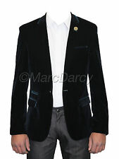 Mens Designer Navy Blue Velvet  Blazer Ideal For Casual Parties And Stage Wear