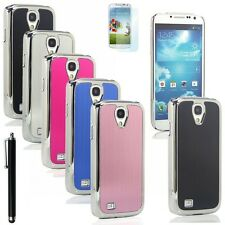 Luxury Brushed Aluminum Chrome Hard Case for Samsung Galaxy S4 IV i9500