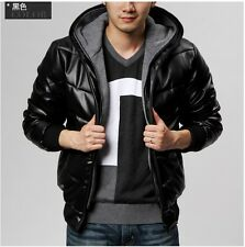 Men's winter thick leather coats jackets outerwear