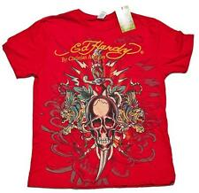 Ed Hardy Christian Audigier Men's Slim Fit  Red Dagger Tattoo T-shirt  S-XXL