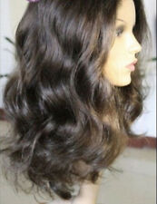 "8""-22"" loose Body Wave 100% Indian Remy Human Hair Front Lace Wig ^-^"