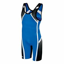 Mens ASICS Conquest Wrestling Singlet Royal
