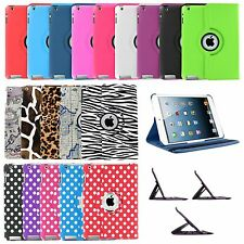 360 Rotating PU Wake/Sleep Leather Case Skin Cover for Apple Ipad Air / Air 2