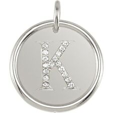 Posh Mommy Jewelry Initial K Roxy Pendant with Diamonds, Silver or 14K Gold
