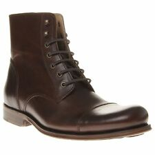 New Mens SOLE Vintage Brown Smithy Leather Boots Modern Gent Lace Up